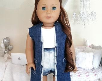 18 inch doll denim vest