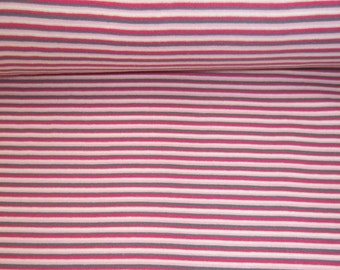 Striped rib Mulitcolor circumference 70 cm pink tones