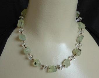 Natural Prehnite Vintage Style Necklace