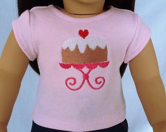 Cake T-Shirt for American Girl/18 Inch Doll
