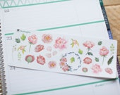 Peonies - decorative floral watercolour planner stickers suitable for any planner 199