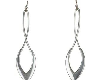 Sterling Silver Drop Earrings, Long Drop Silver Earrings, Dangle Earrings, 925 Silver Drop Earrings, Gift for Her