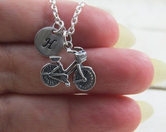 Sterling silver bicycle necklace, bicycle necklace, bike necklace, bike charm, personalized bicycle necklace, cycle necklace, cycling