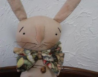 Primitive Folk Art Bunny Rabbit Doll - Easter Collectible