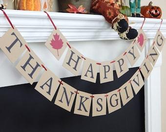 Happy Thanksgiving banner, Thanksgiving banner, fall decor, fall decorations, Thanksgiving sign, Fall banner, thanksgiving decoration