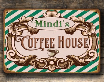 Custom COFFEE HOUSE SIGN, Coffee House Signs, Custom Coffee House Signs, Personalized Coffee House sign, Coffee House Decor, Coffee house