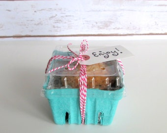 12 qty. Pint Berry Baskets and Lids, Rustic Wedding Favor Basket, Farm Theme Birthday Party Party Favor, Easter Basket