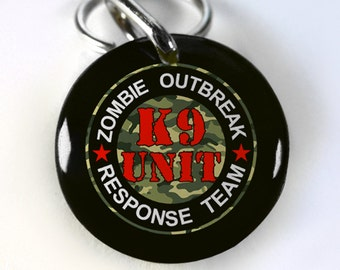 Funny Dog ID Tag Pet id tags Very Funny Unique pet tags Personalized Zombie K9