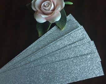 Glitter belly bands - (25), Silver glitter bands