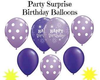 Birthday Balloons Purple Lilac Happy Birthday Party Women Girls Birthday Party Balloon Decorations
