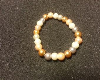 Multi Color pearl glass beads