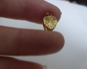 Vintage Tiny (1/2 inch) 12 K Gold Filled Puffed Heart/Locket (16047)