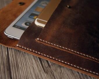 iPad Mini Case, Distressed Brown Leather iPad Mini Case - Hand Stitched Custom Kindle, Nexus, Samsung, Kobo Covers