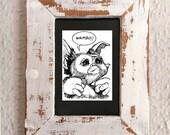 Gizmo from Gremlins | Comic art | ACEO Framed Original Art Card