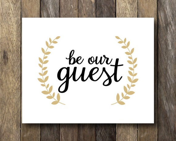 Satisfactory image regarding be our guest printable