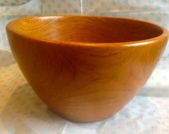 Teak Bowl Deep Mid Century Vintage Fruit Bowl