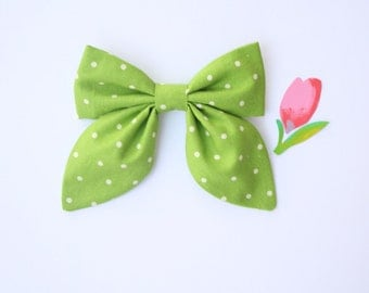 LIME DOTS Classy Bow