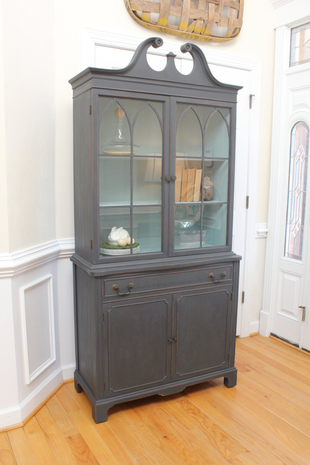 Reserved For Susan Vintage China Cabinet Annie Sloan Chalk