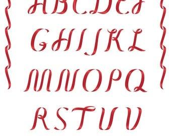 Ribbon Alphabet Clipart Lower Case Letters by StudioIndigoSweden