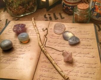 Penna Magica di Sambuco - Per scrivere sul Grimorio, Libro delle ombre.