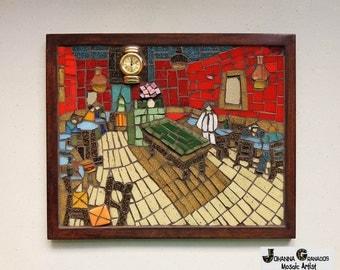Mosa que art mural geisha mosa que de porcelaine cass e for 9 11 mural van