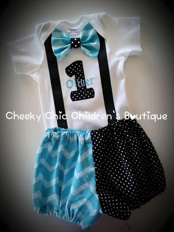 Little Rebel Inspired Birthday Bow Tie Suspender Set