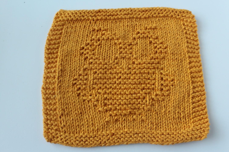 Knit Pattern For Owl Dishcloth : Owl Knit Washcloth Owl Knit Dishcloth Gold Owl Dishcloth
