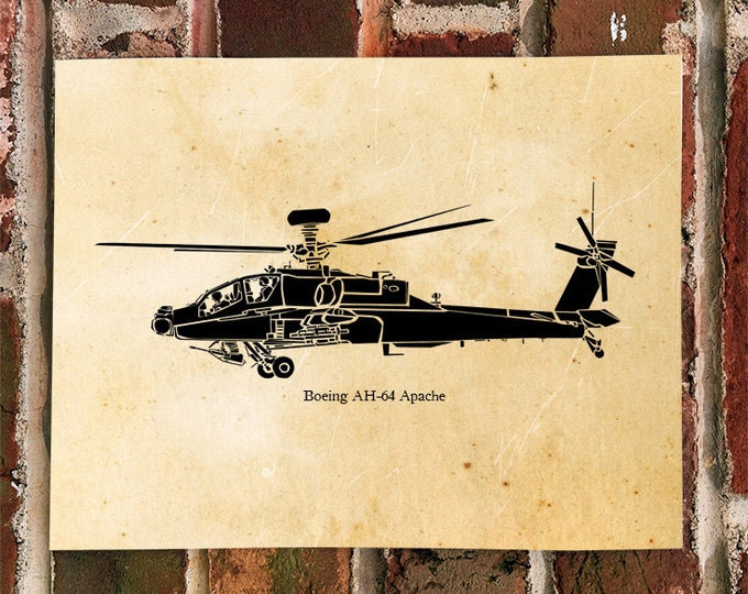 KillerBeeMoto: Limited Print Boeing AH-64 Apache Attack Helicopter Print 1 of 100