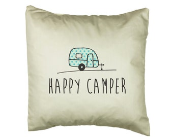 Happy Camper Caravan Cushion