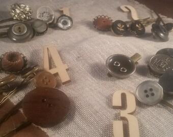 vintage button bobby pin set joy jewelry,karen hudson