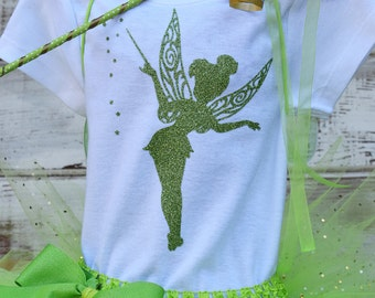 Adorable Tinkerbell Sparkly Free name on shirt!!!! Onesie Only