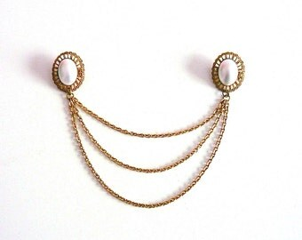 Vintage Chained Double Brooch