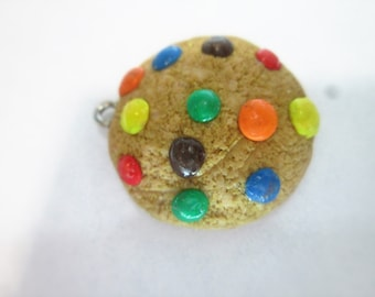 Clay charm m&m cookie polymer clay