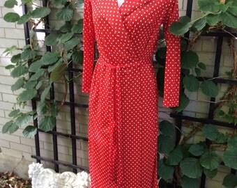 Vintage sleepwear set in red diamond