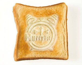 """Easy and Cute """"Hurry Up!"""" Toast Stamp for Breakfast Fun and More - Made in Japan Toastamp"""