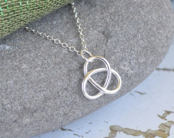Trinity Knot Celtic Sterling Silver Necklace