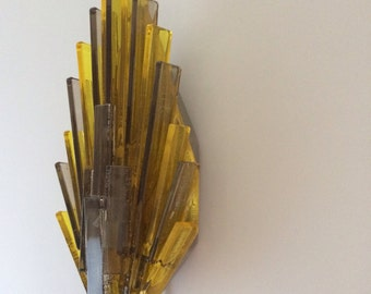 Beautiful Danish Mid Century Acrylic Wall Sconce By Claus Bolby