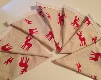 Christmas Reindeer bunting