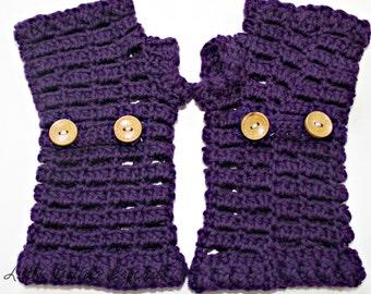 Cotton Crochet Fingerless Gloves