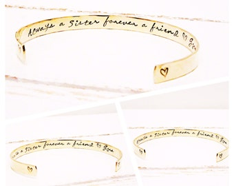 Sisters Gift | Personalised Jewellery for Sisters | Gift ideas for Sisters | Womens gifts | Always a Sister Forever a Friend | Gifts for her