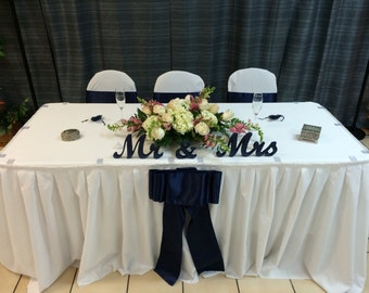 Size / Dimensions Mr and Mrs top or sweetheart table  wedding signs