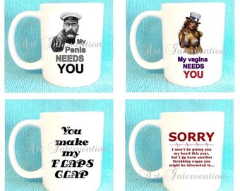 Funny ADULT RUDE Valentines Day mugs