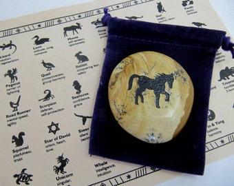 Prancing Horse,  Show Horse, Dressage Horse, Totem, Indian Lore, Native American, Healing Stone, Chakra, Reiki, Yoga, Gift