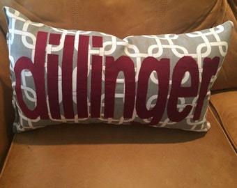 Personalized pillow - made to order