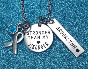 Anxiety Disorder Necklace, Panic Disorder Jewelry, Awareness Jewelry, Anxiety Jewelry, Anxiety Awareness, ENGRAVED