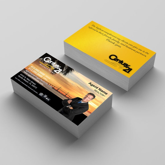 Century 21 Business Card C21 Real Estate Agent Business Card