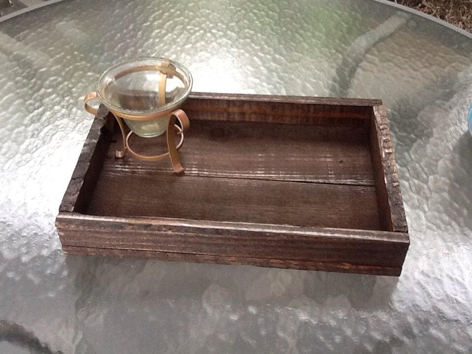 Reclaimed Wood Ottoman ~ Wood tray reclaimed pallet ottoman