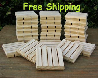 Soap Saver Dishes - 24 ea. - These Wooden Soap Holder Decks are Self Draining w/ Beveled Edges FREE SHIPPING