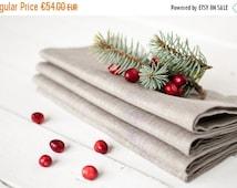 SALE Linen napkins set 12 - Thanksgiving linen napkins - Wedding napkins 18.5'' x 18.5'' - Gray napkins - Organic napkin cloths - Dinner nap