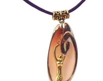 Priestess Earrings - Goddess Earrings - Sacred Feminine  - Goddess Bling - Wiccan Wedding